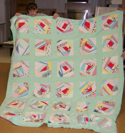 Sweet Ride Quilt Pattern using Plastic Template by Laundry